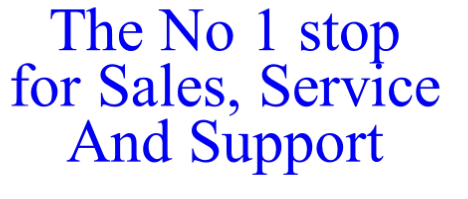 The No 1 stop for Sales, Service
